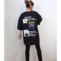 バックプリントBIGシルエットTシャツ【BLACK】