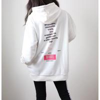 ネオンロゴプリントパーカー【WHITE】