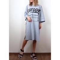 europaプリントロゴTシャツワンピース【GRAY】