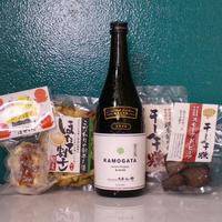 【送料無料】KAMOGATA+4種のおつまみセット&蔵元とオンライン交流会特典付き[113]
