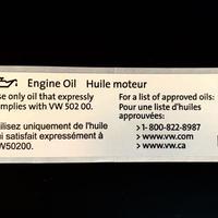 US VW 純正  エンジンオイル VW502 00 ステッカー