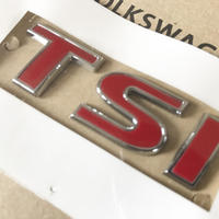 VW Touran 5T 純正 TSI リア エンブレム (オールレッド)