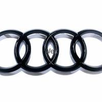 Audi 純正品 Q7 SQ7 4M グロスブラック フロント 4リングス エンブレム