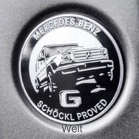 Mercedes-Benz 純正品 W463A G SCHOCKL PROVED エンブレム