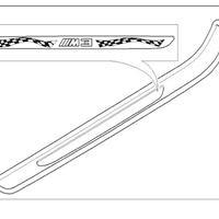 BMW E92 M3 EDITION B&W エントランスカバー 左右セット