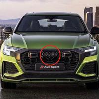 Audi 純正品 RS Q8 グロスブラック フロント 4リングス エンブレム
