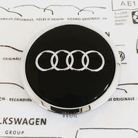 Audi 純正品 グロスブラック ホイール ハブキャップ 8T0601170A (A4 8K A5 8T A6 A7 4G A8 D4 Q5 8R)