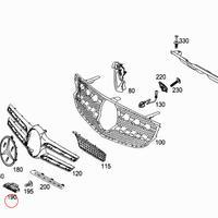 Mercedes-Benz 純正品 X/C253 GLC43 ダイヤモンドグリル用 AMG エンブレム