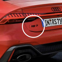 Audi 純正品 RS7 Sportback 4K  グロスブラック リアエンブレム