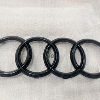 Audi 純正品 RSQ3 F3 グロスブラック フロント 4リングス エンブレム / A8 D4 A7 RS7 4G 前期