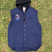 SNOOP DOGGY DOG button-down hoodie vest