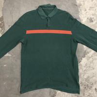 POLO L/S shirt  green&orange