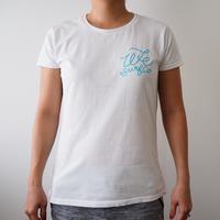 オリジナル レディース ロゴTシャツ (シンプル波)