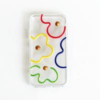 colorful flowersスマホケース/iphoneケース
