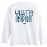 WHATTS INSPIRIT オリジナルロンT/ブルー