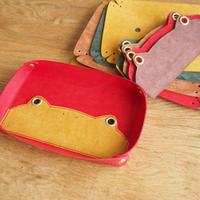 『ピョンカブー』 革で作ったカエルのレザートレー カラーオーダー