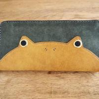 『ケロングウォレット』カエルの財布 イエロー×ローリエグリーン