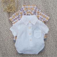 cotton100シャツロンパース