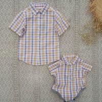 cotton100チェックシャツ