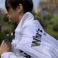 What's? .TOKYO ナイロンバッグ(ホワイト×ブラック)