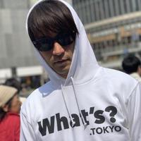 What's? .TOKYO パーカー(ホワイト×ブラック)
