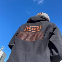 W.O.E BASIC black Hoodie