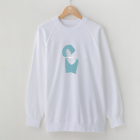 WOMEN LOGO SWEAT / WHITE