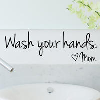 """Wash your hands♡mom"" Wall decal"