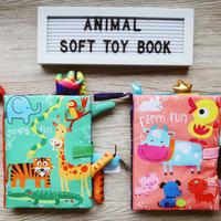 Awa's favorite toy book / キラキラアニマル布絵本(大)