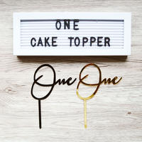 """One"" cake topper / 1才のお誕生日ケーキ用トッパー"