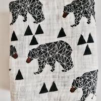 Bear print muslin blanket