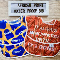 African print Waterproof bib / アフリカン柄お食事用エプロン[撥水加工]2枚セット