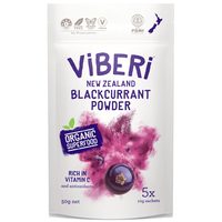 ViBERi Organic Blackcurrant Powder - 有機JAS カシスパウダー  50g (10g * 5 Sachets)