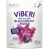 ViBERi Organic Blackcurrant Powder - 有機JAS カシスパウダー 200g (10g * 20 Sachets)