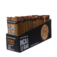 【送料無料】インカベリーバー ココナツとアーモンド Inca Berry - Coconut & Almonds (20個入りパック)