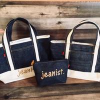 刺繍ロゴ入りjeanist  tote bag