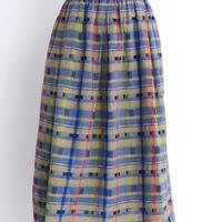 cdc オリジナルチェック よこボタンスカート