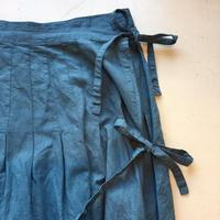 grin コットンリネンラップロングスカート