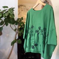 ohana ボタニカル刺繍ワイドプルオーバー