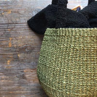 Hummingbird 手編みアバカ ボア カゴバッグ S