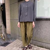 yuni/ユニ シルク/コットン 交織wide-short シャツ