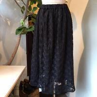 chambre de charme     チュール刺繍ギャザースカート