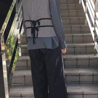 Malle chambre de charme コットン/ 起毛 W釦ベスト