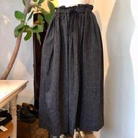 Malle chambre de charme   リネン/コットン ストライプ 編み物婦人のスカート