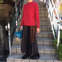natural laundry シャーリングパネルスカート