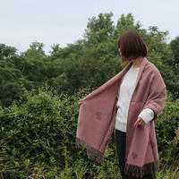 KLIPPAN ストール choucho ブラウン/ピンク