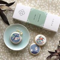 白磁彩菓≪鍋島文様≫  3種セレクト