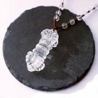 ヒマラヤ水晶/バジュラ(金剛杵)ネックレス 561