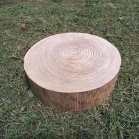 1点限り。刳り抜き丸太 薪割り台 切り株 杉 約30x30cm 厚さ約9cm