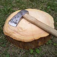 薪割り台 切り株 ひのき 丸太 約30x27cm 厚さ約8~10cm